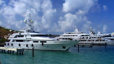 Motor Yachts at Simpson Bay Marina