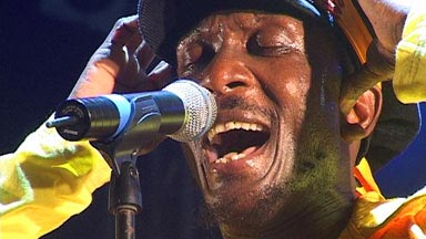 Jamaican reggae legend Jimmy Cliff performing at the Heineken Regatta
